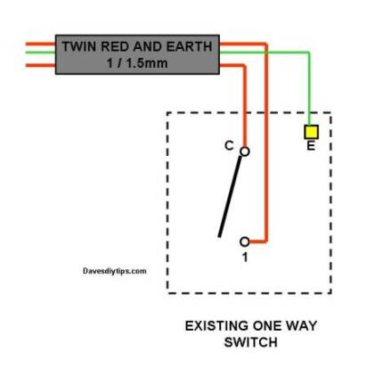1 way light switch wiring diagram wiring diagram one way lighting circuit modified for two way switching dave s diy rh davesdiytips com 1 gang 2 way light switch wiring diagram 3 gang 1 way light switch cheapraybanclubmaster Image collections