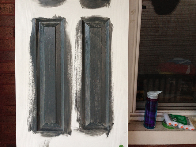 How to paint your interior doors like a professional daves diy tips once you have sanded the door down and applied any required primer to it the first thing you will need to do is paint the doors panels ie the bits in planetlyrics Gallery